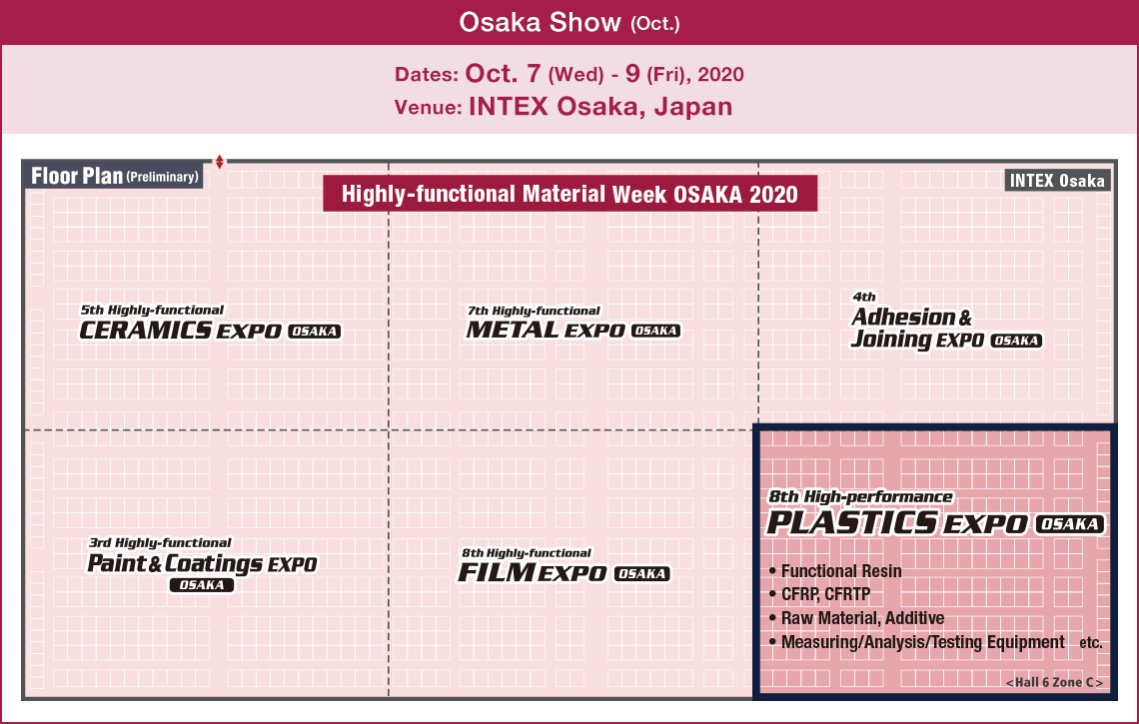 High-performance PLASTICS EXPO OSAKA [Osaka Show (Oct.)]